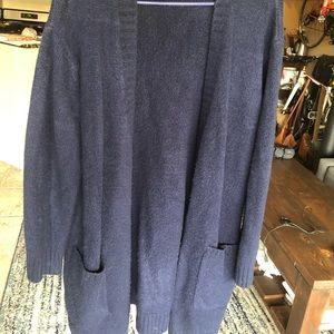 Long navy cardigan